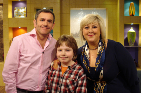 Ruaridh with The Hour presenters