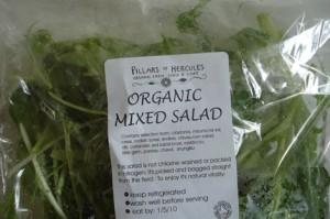 organic mixed salad leaves