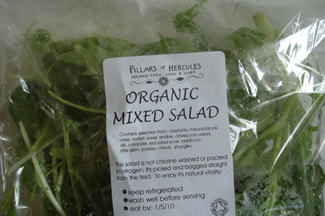 organic mixed salad leaves