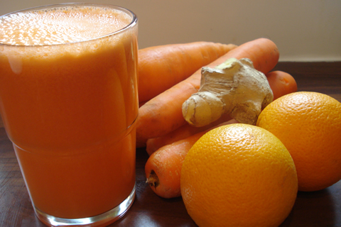 carrot orange and ginger juice