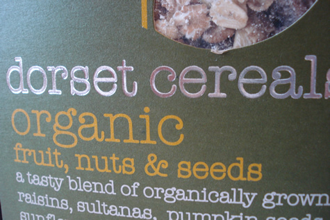 organikal cereal from Dorset