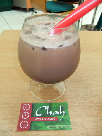 chocolate bubble tea from Chah