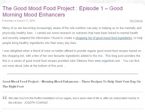 Good mood food a new project organikal episode 1 of the good mood food project is live and ive enjoyed working another couple which we have in the pipeline for you ill be putting together forumfinder Image collections