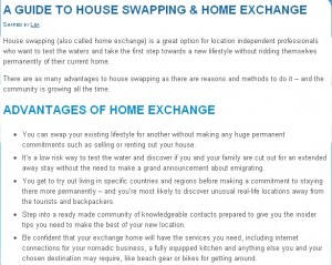 Location Independent Guide to Home Exchange