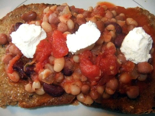 superfoods beans on toast