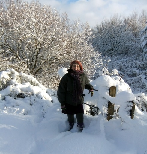 image of julie in snow