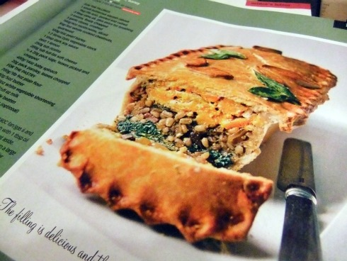 Layered Squash Barley Spinach Pie