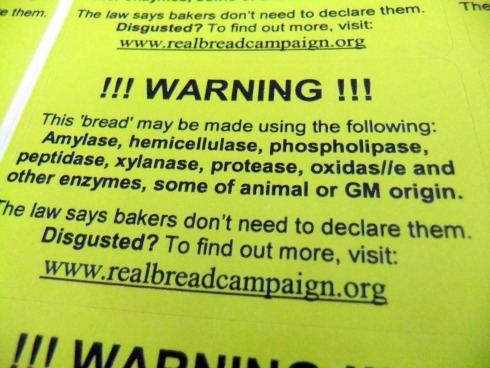 Real Bread Warning